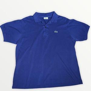Lacoste Authentic Men's Blue Polo Size 5
